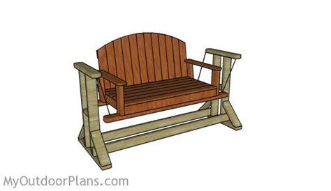 swing bench plans myoutdoorplans  woodworking