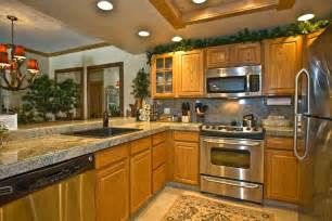 Kitchen With Light Oak Cabinets by Document Moved