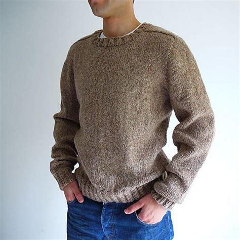 mens sweater pattern knit in the round top down seamless men s saddle shoulder sweater knitting