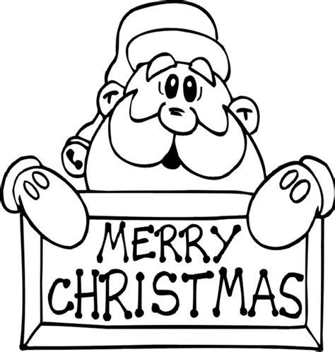 Merry Christmas Santa Coloring Page Coloring Book Merry Santa Coloring Pages