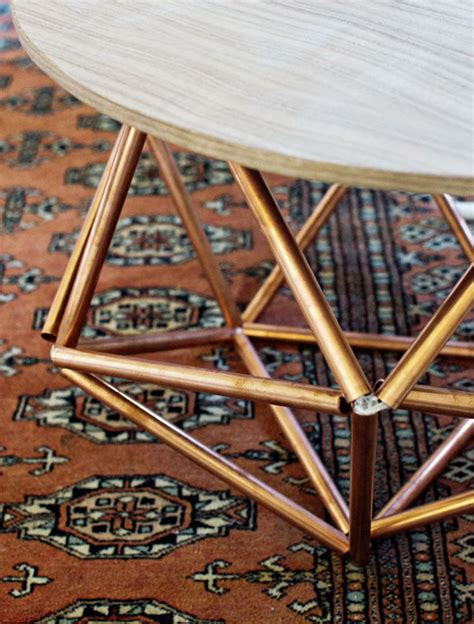 Copper Pipe Table by Geometric Copper Pipe Table Decoist