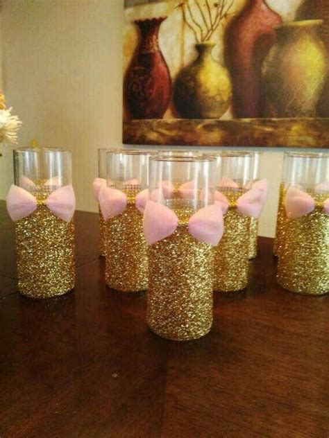 Glass centerpieces can be used for babyshowers, weddings