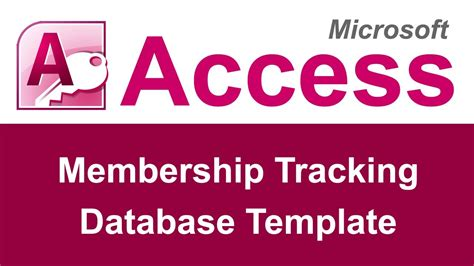 Free Microsoft Access Club Membership Database Template Microsoft Access Membership Tracking Database Template Youtube