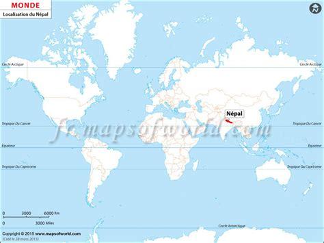 Où est le Népal Localisation du Népal sur la carte mondiale