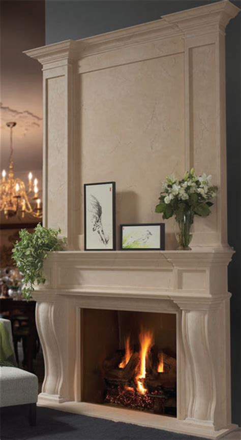 fresno fireplace overmantel traditional by omega