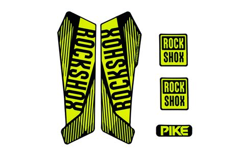 Rockshox Frame Stickers by Commencal 2016 Kit Sticker Rock Shox Pike 2016 Jaune Fluo