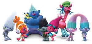 trolls movie logo voice cast characters teaser trailer