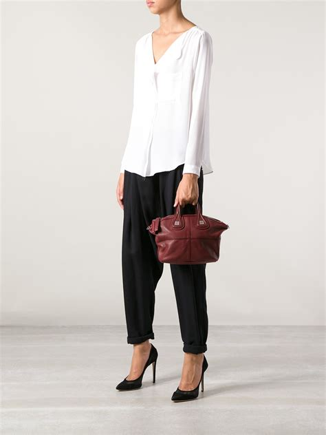 Givenchy Nightiangle Mini Semprem lyst givenchy givenchy nightingale mini tote in