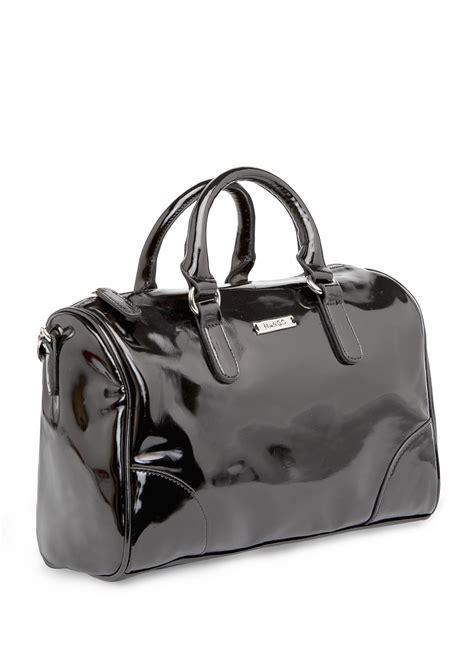 Mango Bowling Bag S mango patent bowling bag in black lyst