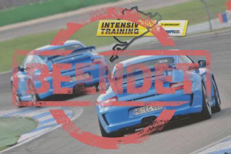 Auto Bild Sportscars Sachsenring Zeiten by Partneraktion Dunlop Porsche Intensivtrainig 2012
