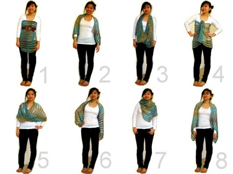 8 Cool Ways To Wear A Scarf by Because She Started Knitting 8 Ways To Wear Your