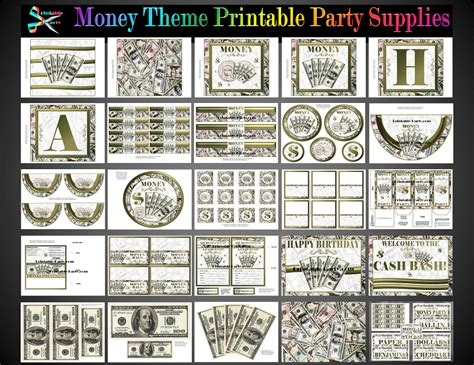 money themed decorations affiliate printable products make money selling our