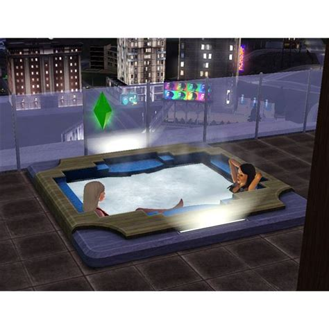 Gamis Jaquzo outside with the sims 3 water slides