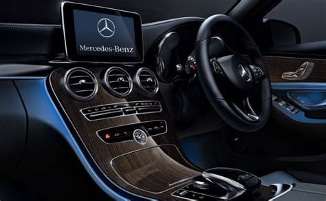 mercedes c class dashboard mercedes benz c class adds new variant in india starts