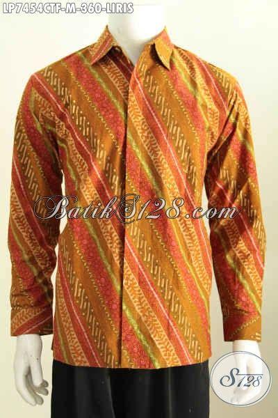 Kemeja Batik Lengan Panjang Motif Songket Prada Halus Ready Seragam kemeja batik halus lengan panjang motif liris busana batik klasik furing proses cap