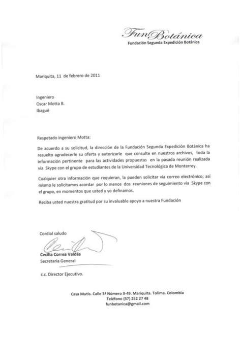 carta de aceptacin de comisario facebookcom carta aceptaci 243 n fundaci 243 n segunda expedici 243 n bot 225 nica
