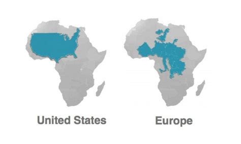 this is the true size of africa you ve been wrong all along
