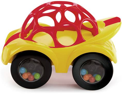 Oball Auto by Oball Rattle Roll Gelb Rot Rassel Auto