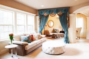 window curtains for living room blue color with oversie