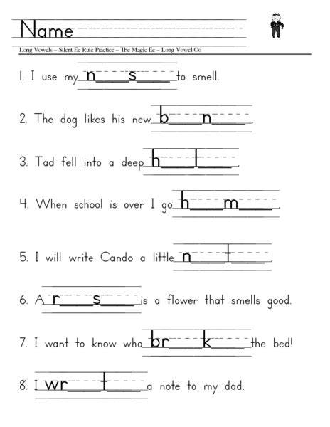 Silent E Worksheets by Vowels With Silent E Worksheets Abitlikethis
