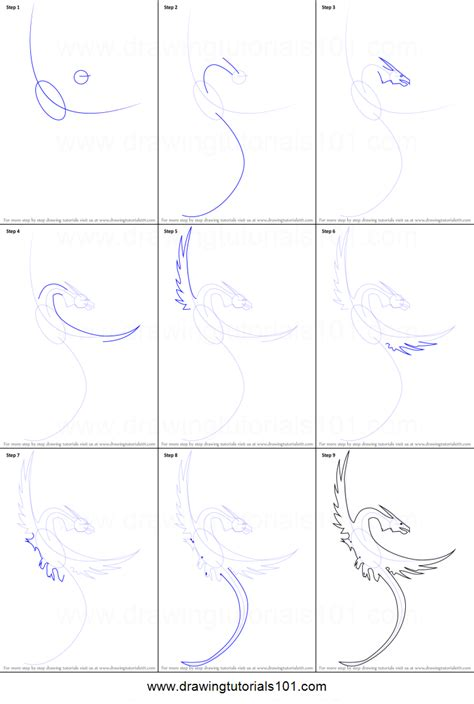 easy tattoo drawing step by step how to draw a dragon tattoo printable step by step drawing
