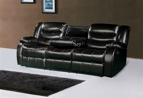 black leather reclining loveseat with console black leather reclining sofa with console hereo sofa