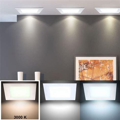 led deckenle flach 2er set luxus led decken einbau leuchten g 228 stezimmer panel