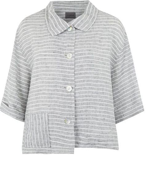 pattern linen jacket oska grey stripe linen jacket clothes i love pinterest