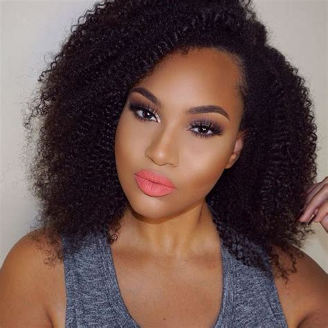 kinky curly short weaves for black woman natural black kinky curly wigs glueless short full lace