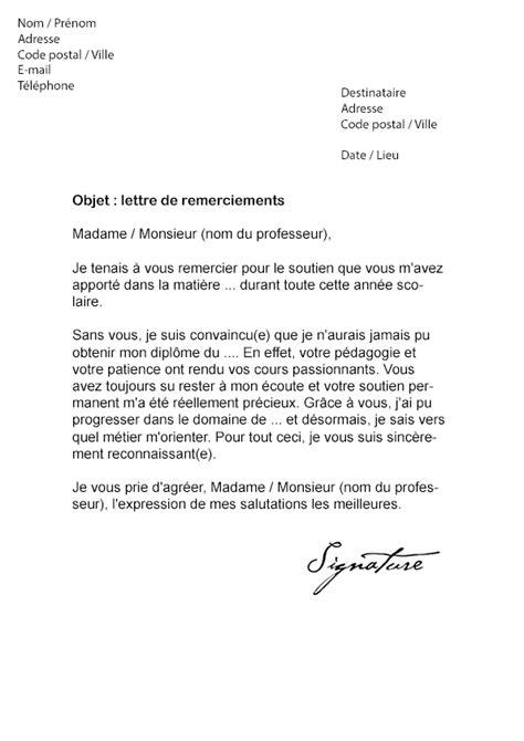 Message De Remerciement Pour Un Enseignant QU42 | Jornalagora