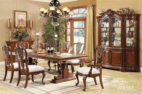cheap wooden carved dining table set classic dining room