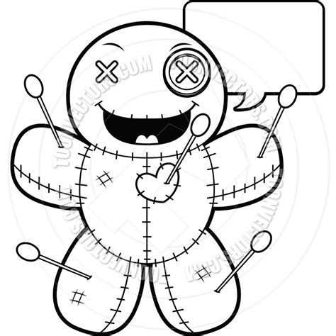 voodoo doll coloring page cartoon voodoo doll talking clipart panda free clipart