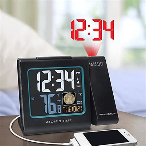 la crosse technology atomic projection alarm clock bed bath beyond