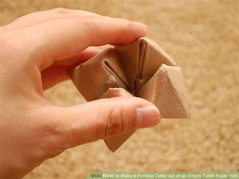How To Make A Paper Fortune Teller Wikihow - how to make a fortune teller out of an empty toilet paper roll