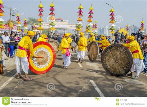 indian artists traditional drums editorial photography image 31794922