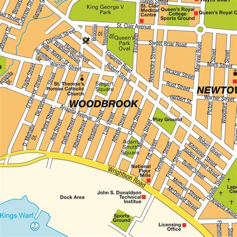 map of port of spain streets map port of spain and tobago maps and