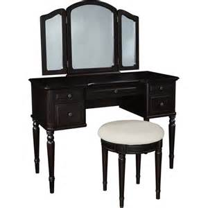 Trifold Vanity Classic Vanity With Tri Fold Mirror And Bench Walmart Com