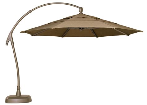 Treasure Garden 11 Ag28 Square Cantilever Offset Aluminum Patio Umbrella Cantilever