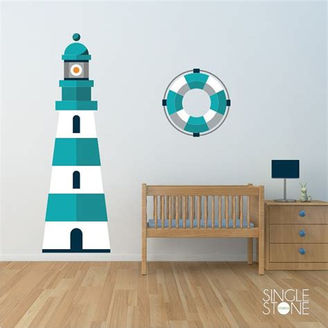 Nautical Wall Decals For Nursery Lighthouse Wall Decal Nautical Nursery Vinyl Wall Sticker