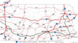 pa map map of pennsylvania