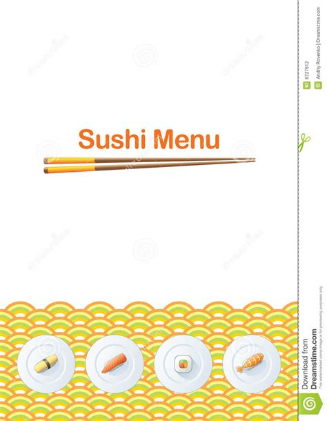 sushi menu template stock photography image 6727612