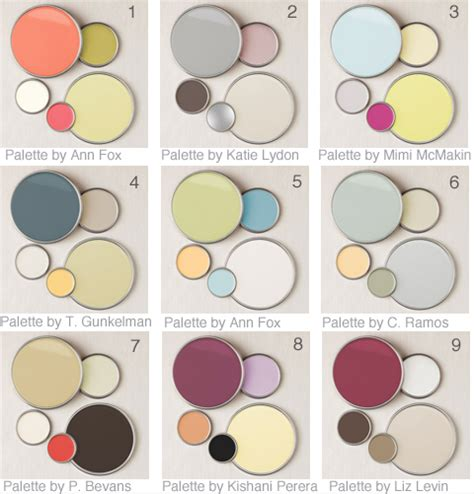Home Decor Color Schemes 9 Designer Color Palettes Gardens Paint Colors And Ideas