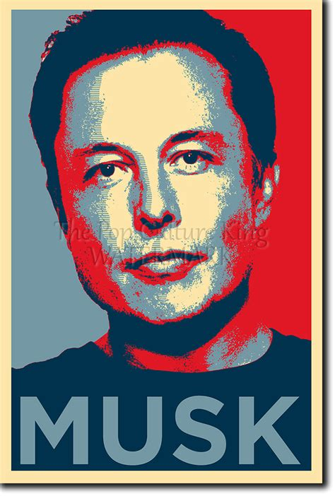 elon musk biography ebay elon musk photo print poster obama hope tesla motors ebay