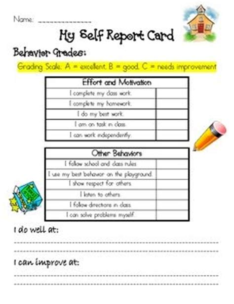 parent conference forms behavior report student