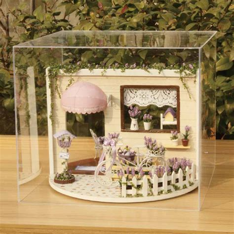 dollhouse room box handmade house model kit assemble