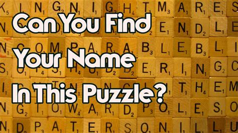 Can See What You Search On Your Name Will Be In This Puzzle Can You Find It