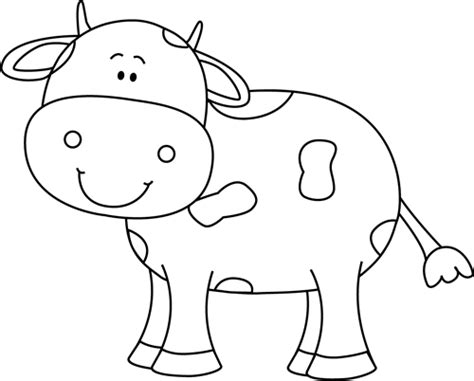 Cow Drawing Outline by Black And White Cow Clip Black And White Cow Image