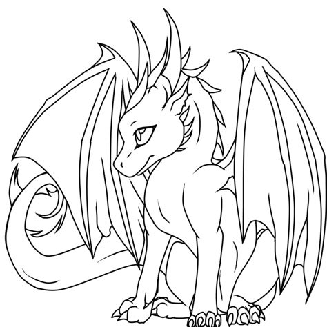 chibi dragon coloring page drachen 25 bilder zum ausmalen