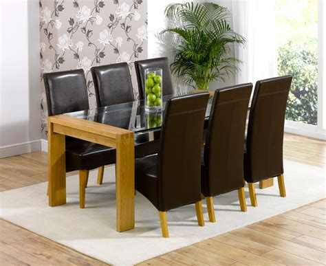 Dining Tables Canberra Canberra 200cm Solid Oak Glass Dining Table With Canberra Chairs Go Furniture Co Uk