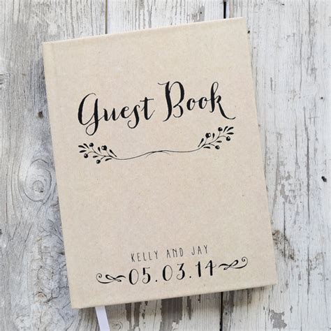 Wedding Guest Book Cover Page by Wedding Guest Book Wedding Guestbook Custom Guest Book